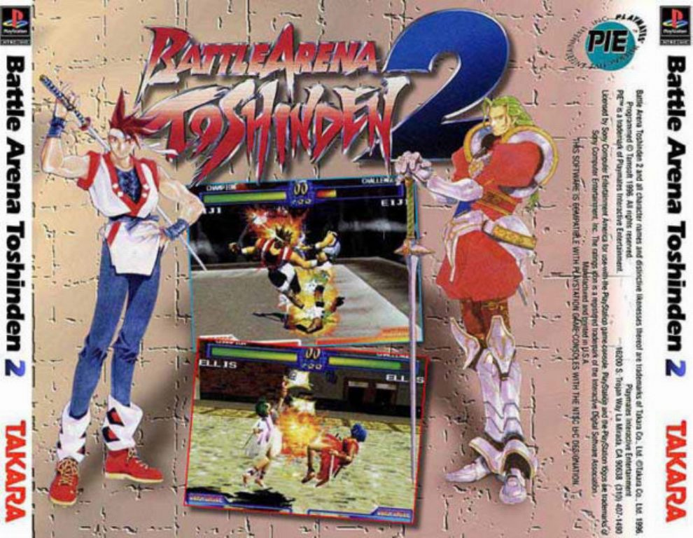 Battle Arena Toshinden 2 Ntsc Psx Back Playstation Covers