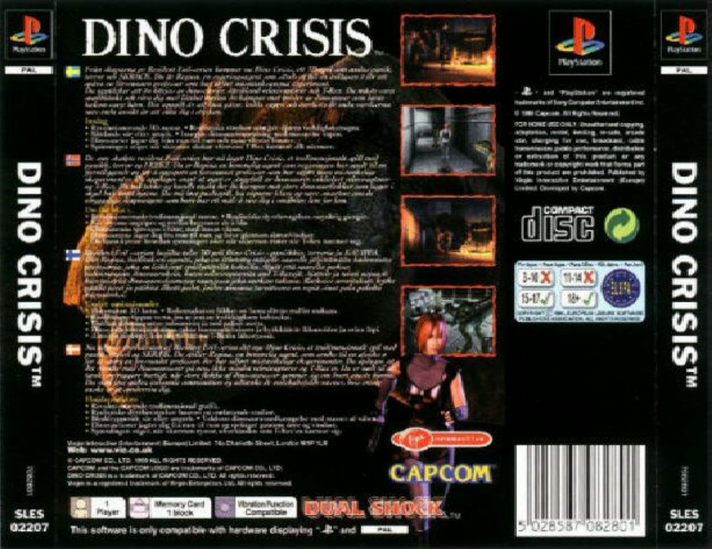 Dino Crisis PAL PSX BACK | Playstation Covers | Cover