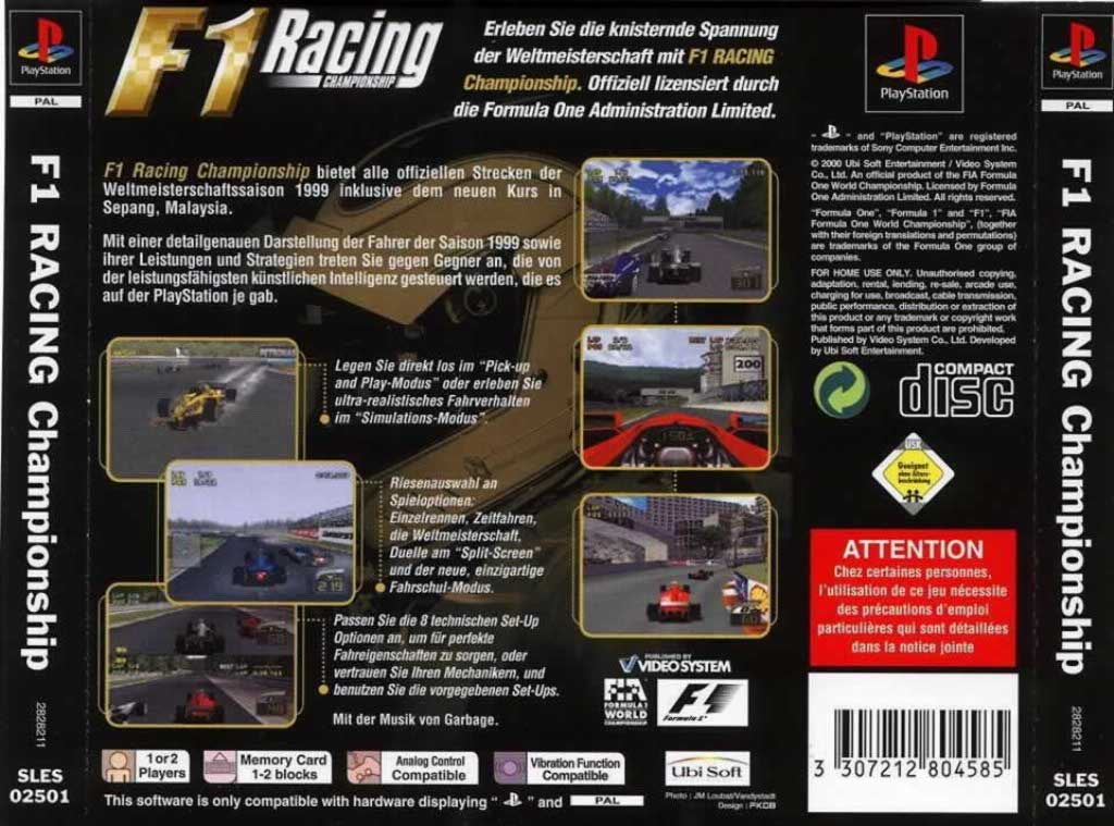 F1 Racing Pal Psx Front Playstation Covers Cover Century Over 500 000 Album Art Covers For Free