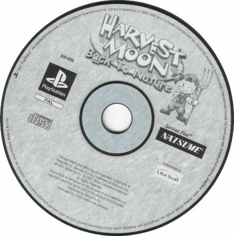 Harvest Moon Back To Nature PAL PSX CD | Playstation Covers