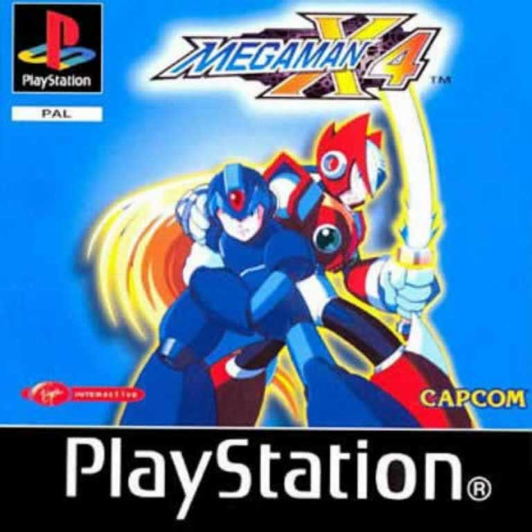 Mega Man X4 PAL PSX FRONT   Playstation Covers   Cover