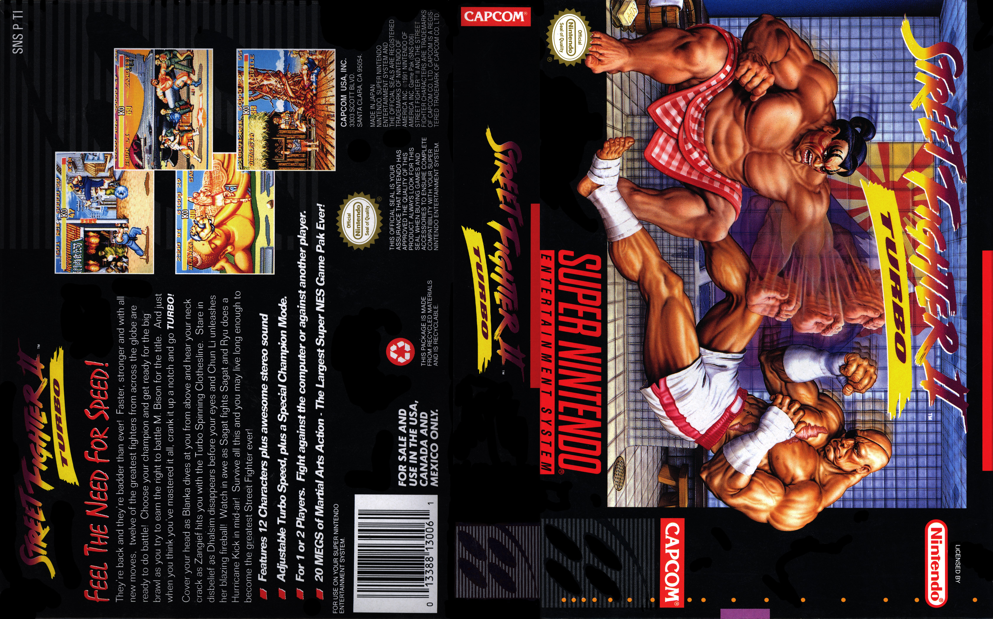 Streetfighter Ii Turbo Super Nintendo Covers Cover Century Over 500 000 Album Art Covers For Free