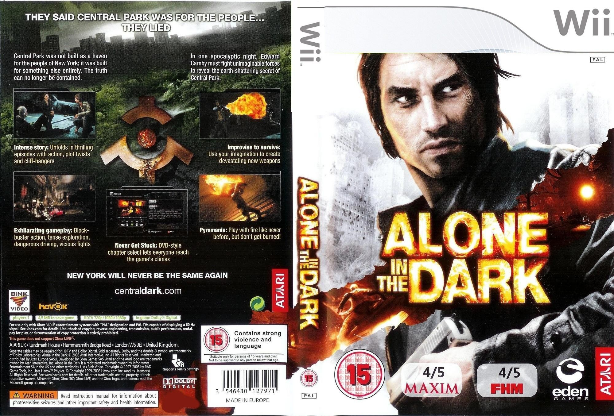 Alone In The Dark Pal Wii Full Custom Wii Covers Cover Century
