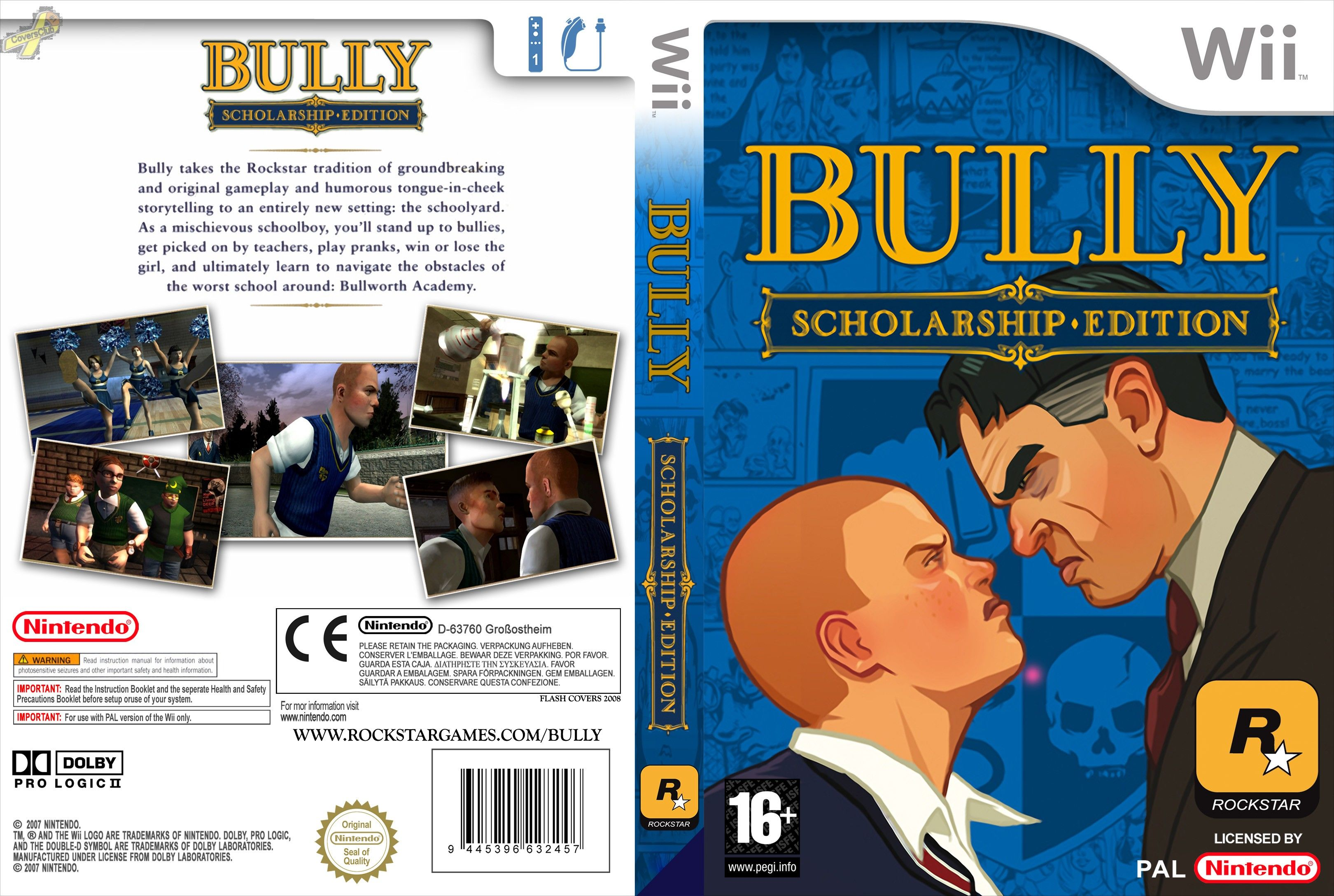 Bully Scholarship Edition PAL Wii FULL | Wii Covers | Cover