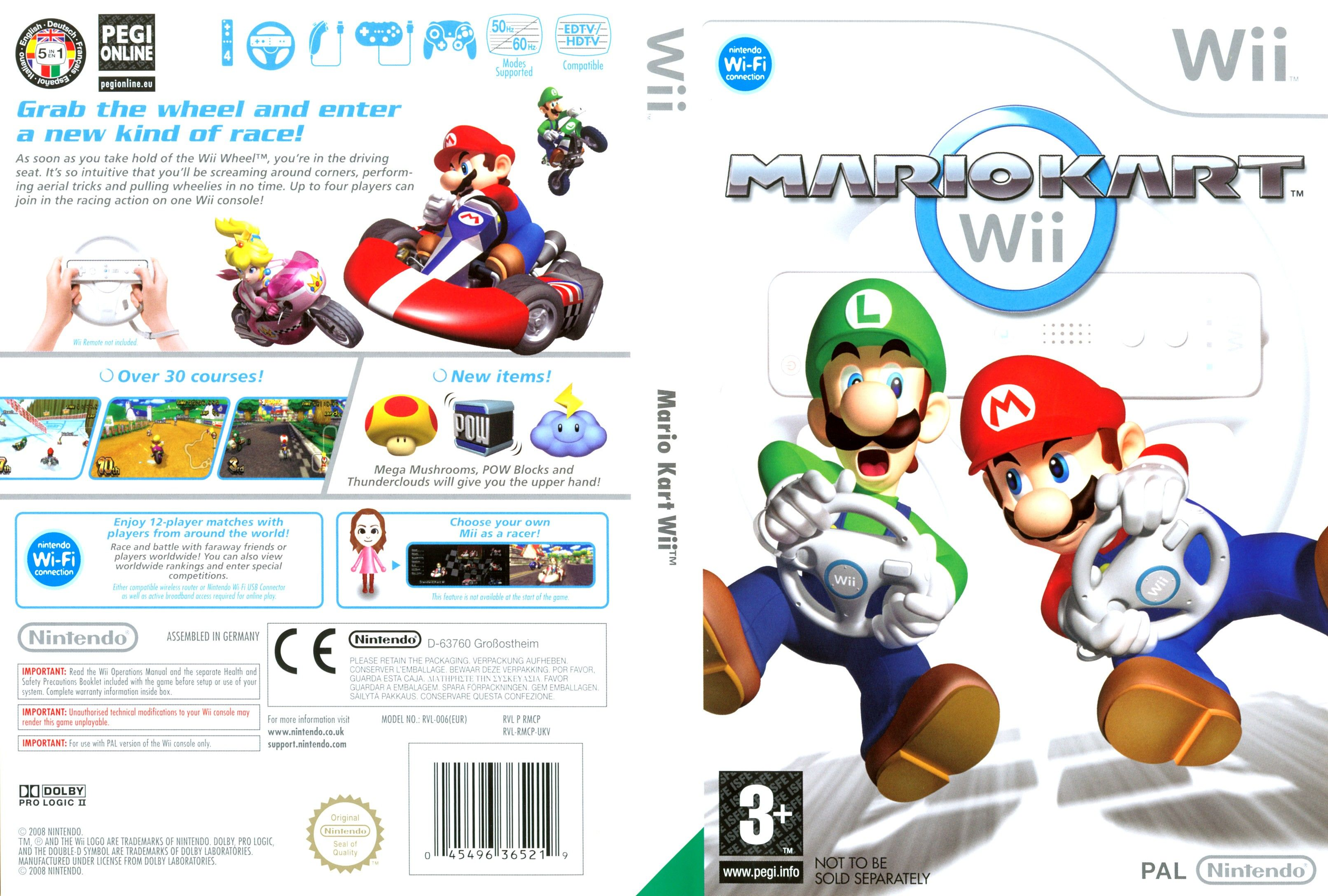 mario kart pal wii full wii covers cover century. Black Bedroom Furniture Sets. Home Design Ideas