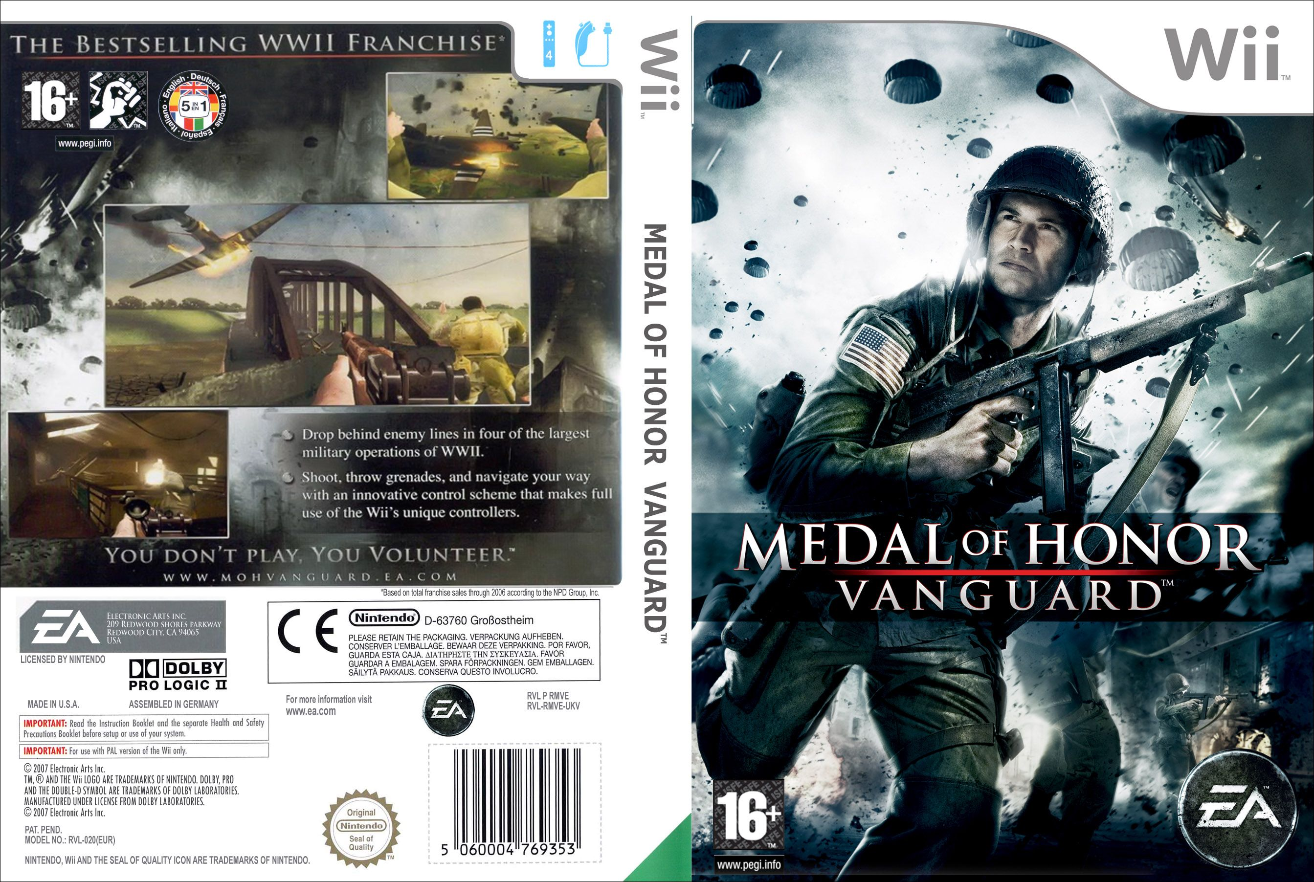 Medal Of Honor Vanguard Ntsc Wii Full2 Wii Covers Cover Century Over 500 000 Album Art Covers For Free