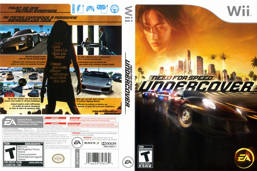 need for speed undercover ntsc wii full wii covers. Black Bedroom Furniture Sets. Home Design Ideas