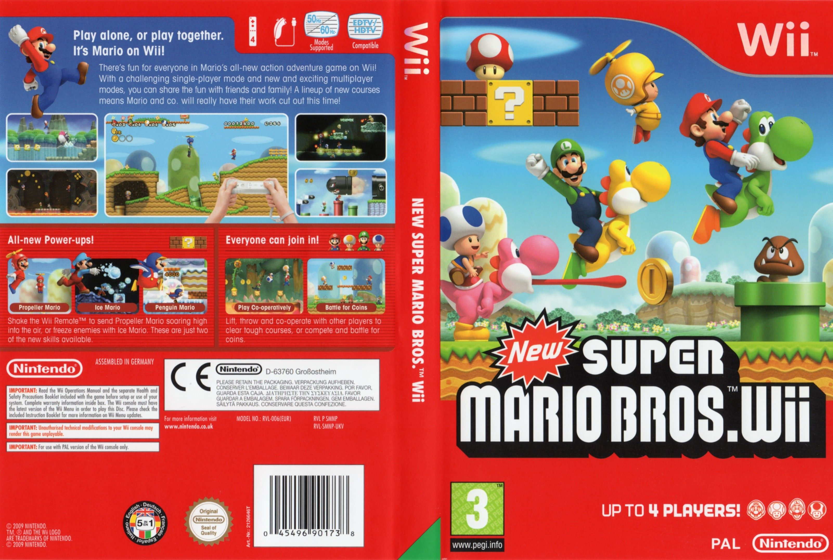 New Super Mario Bros Pal Wii Full Wii Covers Cover Century Over 500 000 Album Art Covers For Free