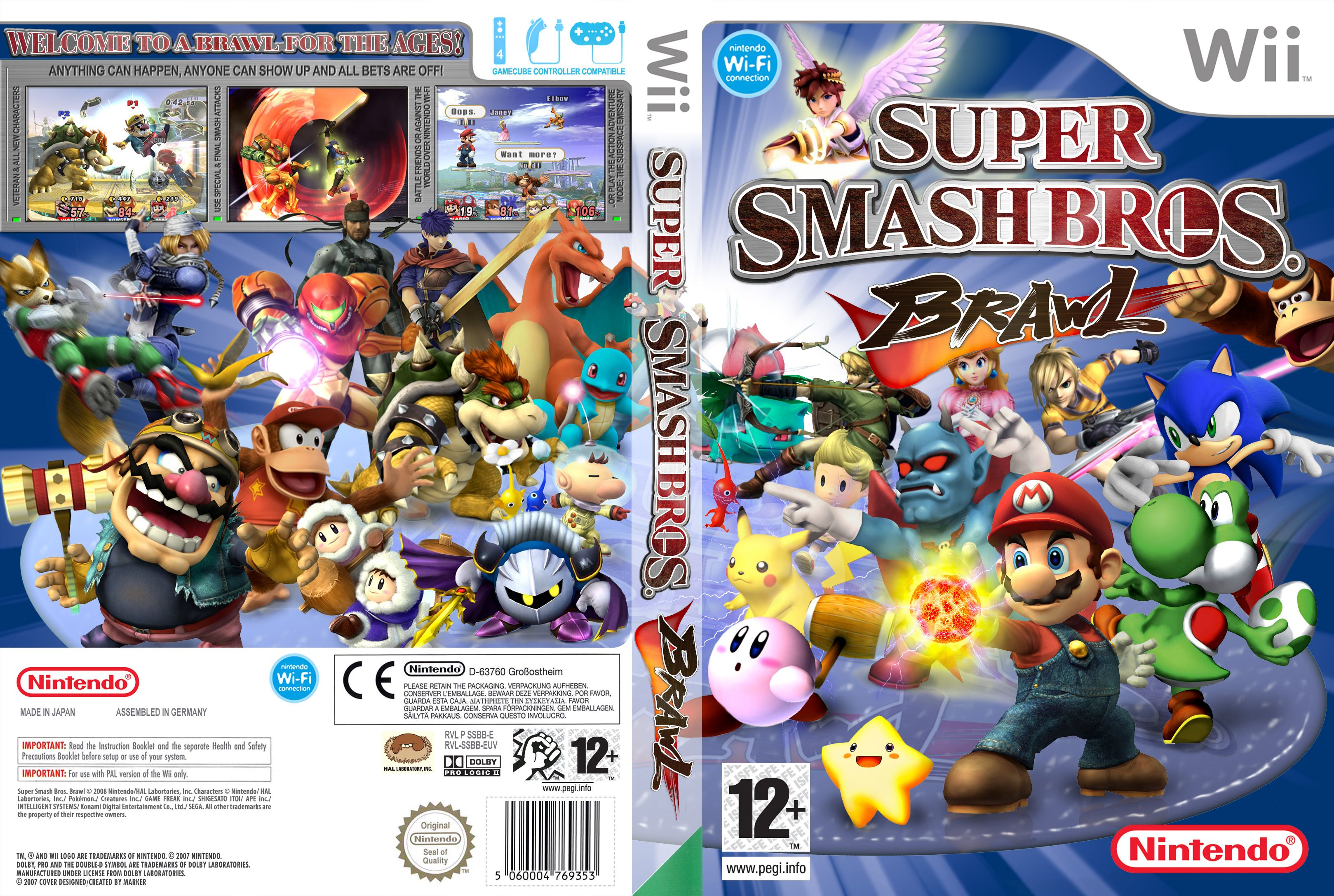 Super smash bros brawl game on computer