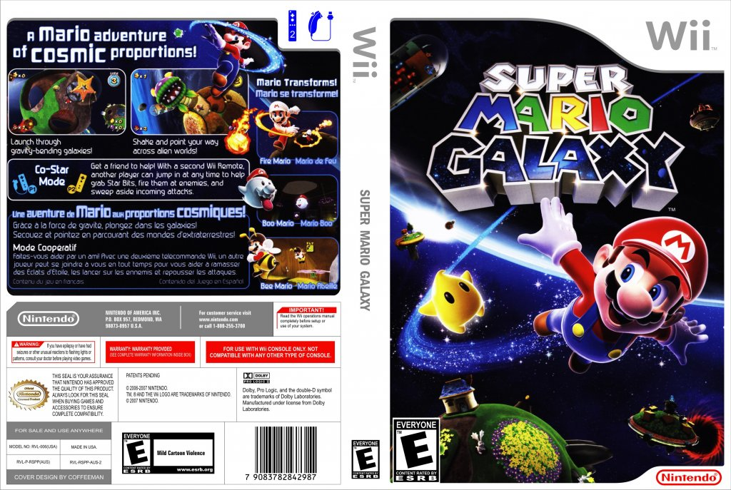 Super Mario Galaxy Wii Covers Cover Century Over 500 000 Album Art Covers For Free