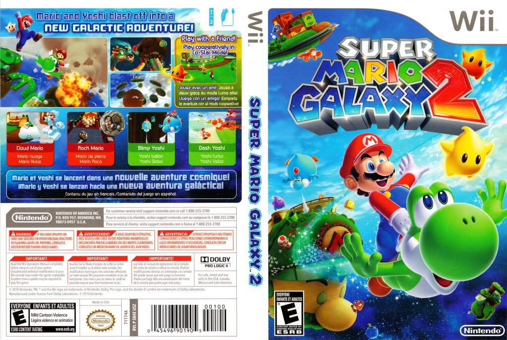 Super Mario Galaxy 2 Dvd Ntsc F Wii Covers Cover Century Over 500 000 Album Art Covers For Free