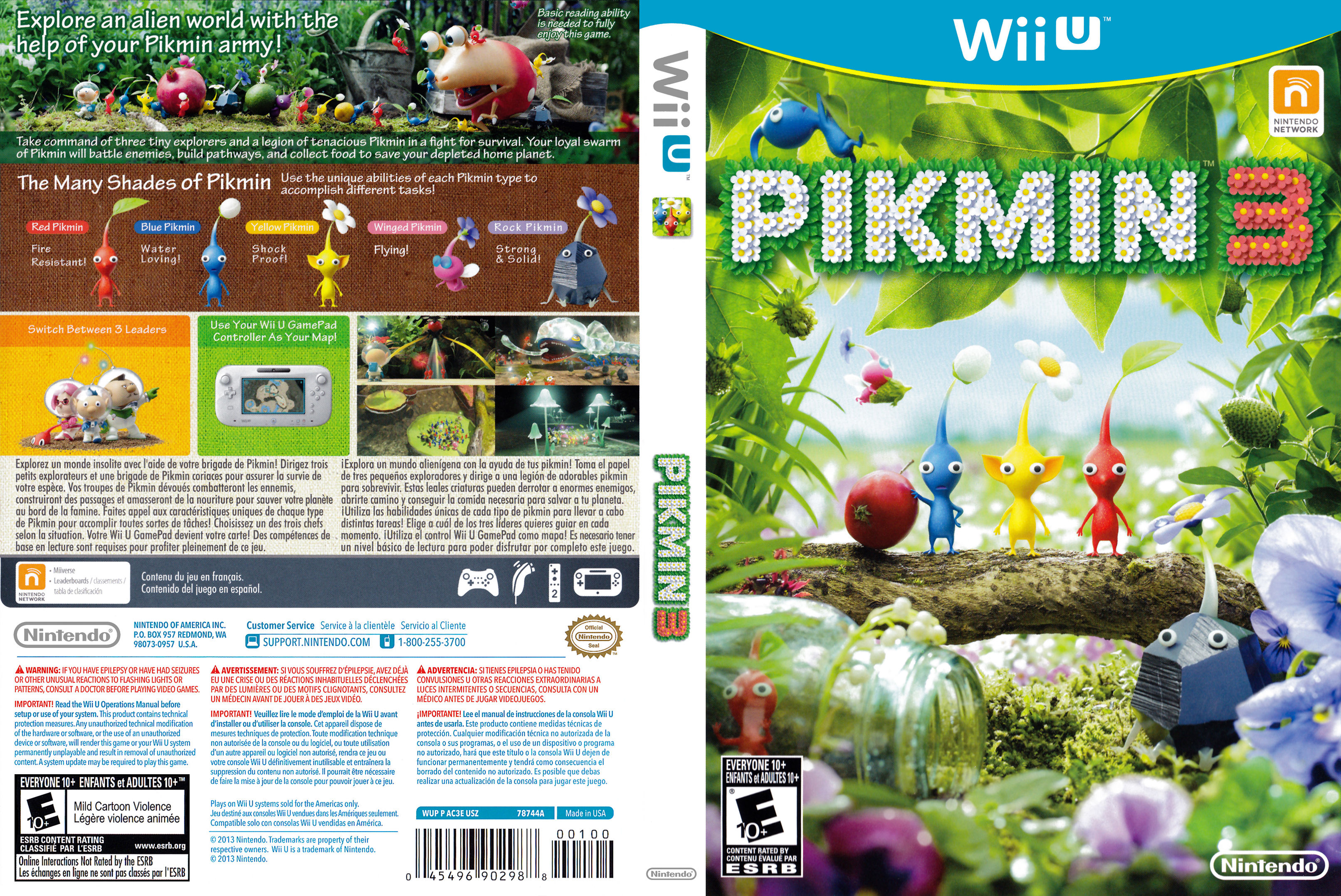 Pikmin 3 Wii U Covers Cover Century Over 500 000 Album Art