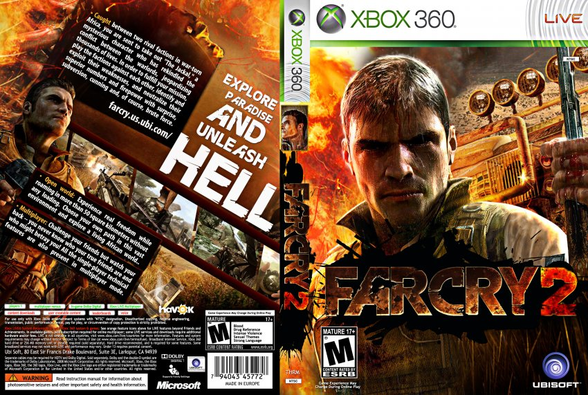 Far Cry 2 Dvd Ntsc Custom F Xbox Covers Cover Century Over