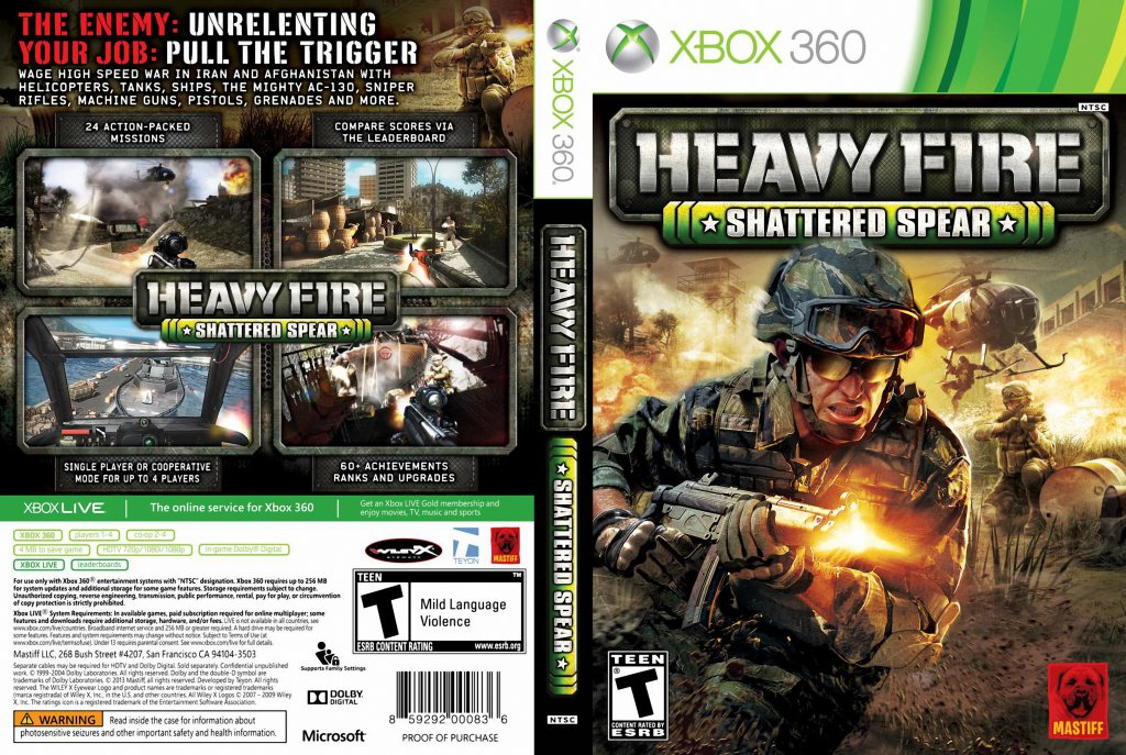 Heavy Fire Shattered Spear Xbox360 Xbox Covers Cover Century Over 500 000 Album Art Covers For Free
