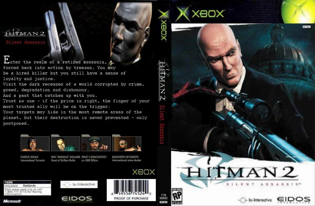 Hitman 2 Silent Assassin Ntsc Xbox Full Xbox Covers Cover