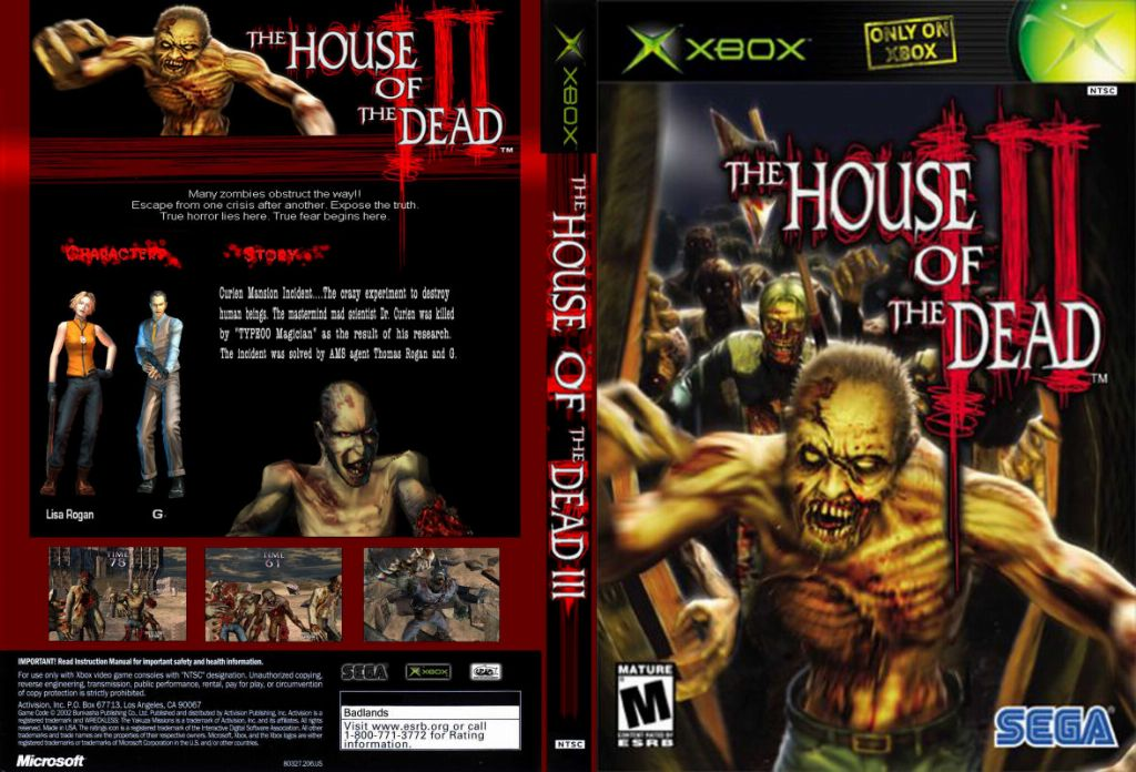 House Of The Dead 3 Ntsc Xbox Full Xbox Covers Cover Century