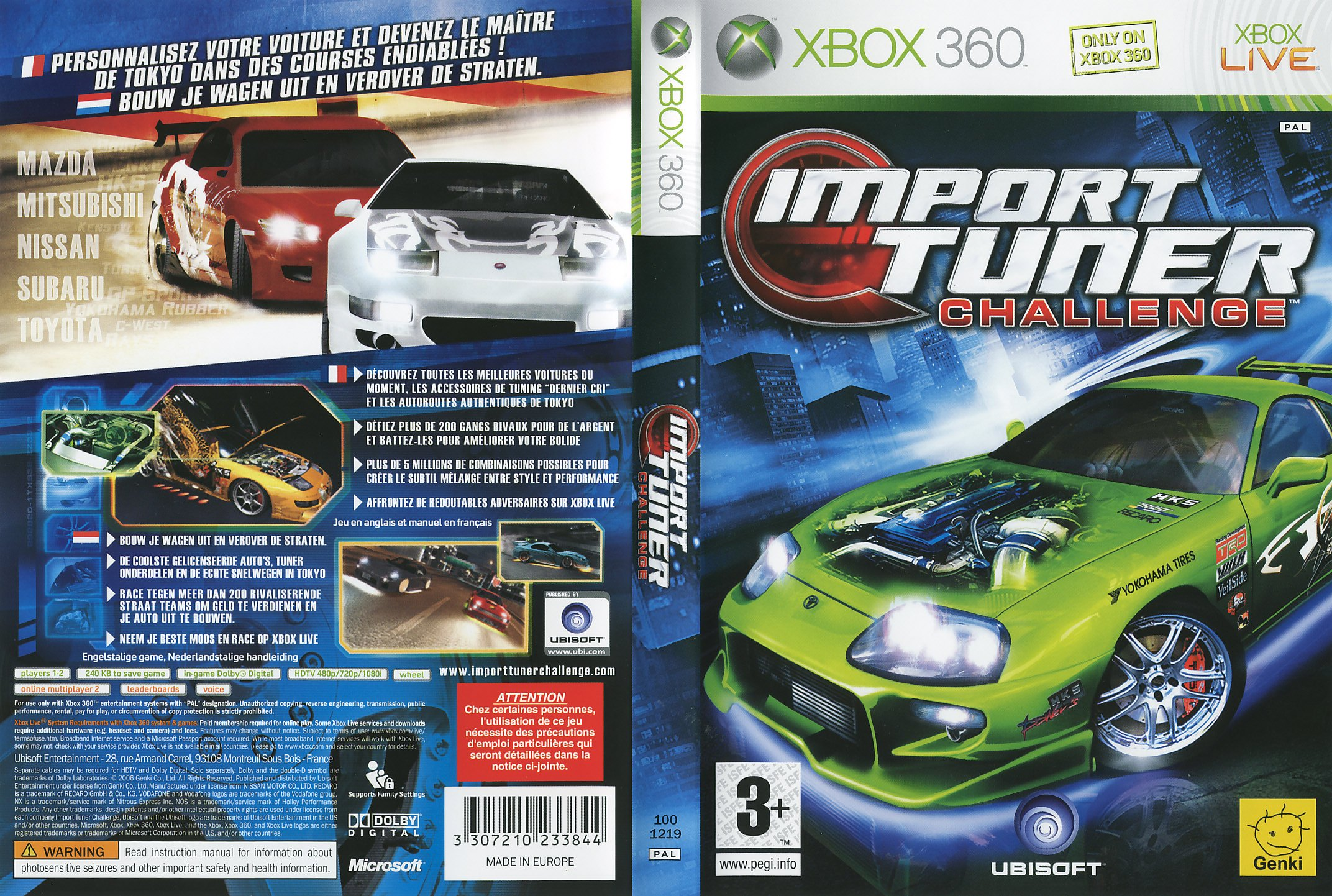 Import Tuner Challenge PAL XBOX360 FULL | XBOX Covers