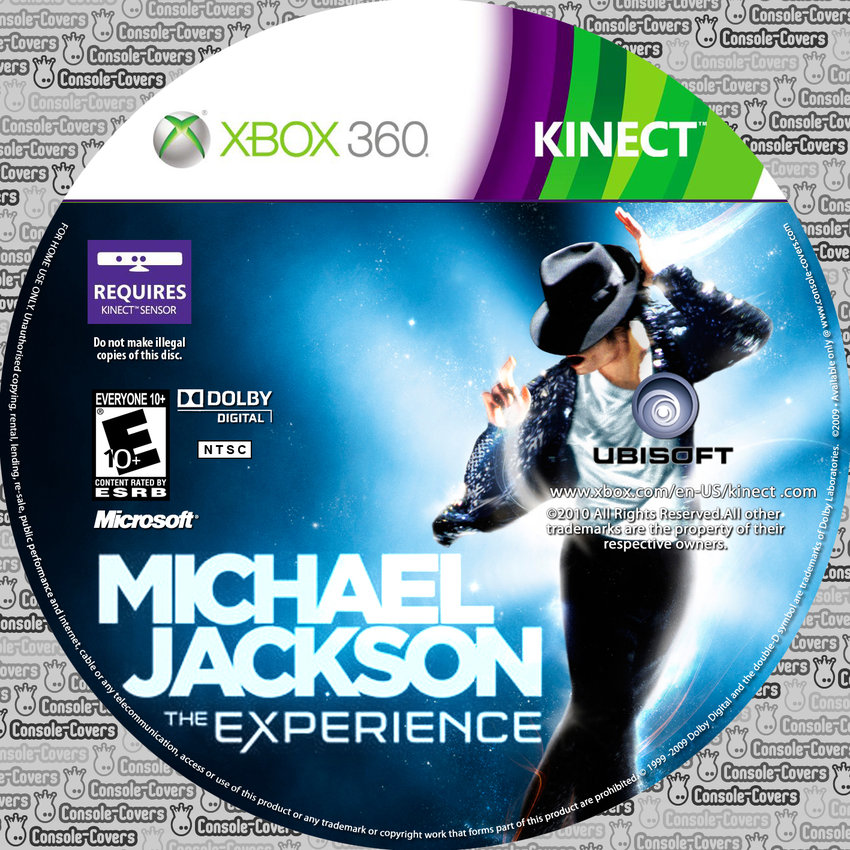 kinect michael jackson the experience xbox360 label 001 xbox