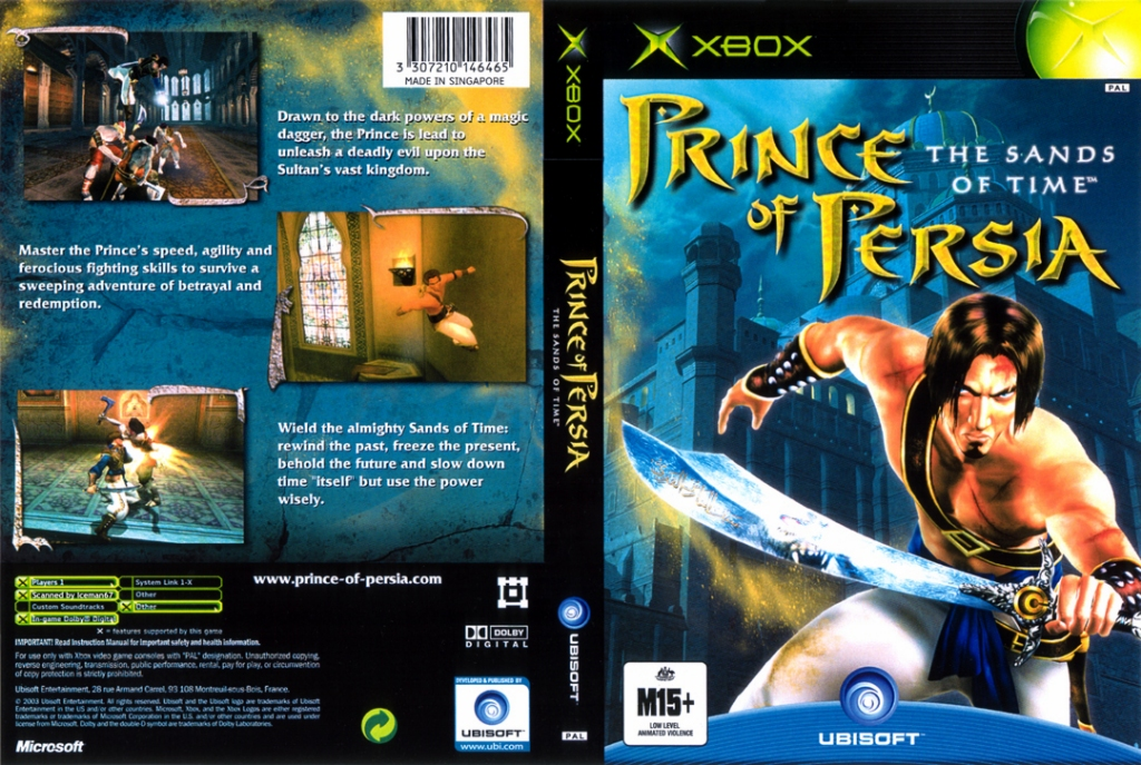 Prince Persia The Sands Of Time Ntsc Xbox Full Xbox Covers Cover Century Over 500 000 Album Art Covers For Free