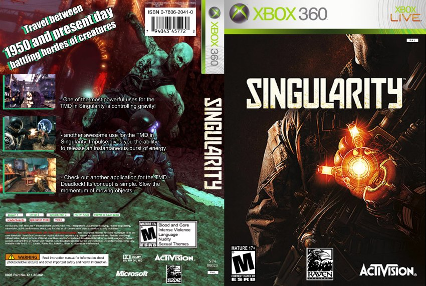 Singularity Dvd Ntsc Custom F2 Xbox Covers Cover Century Over 500 000 Album Art Covers For Free