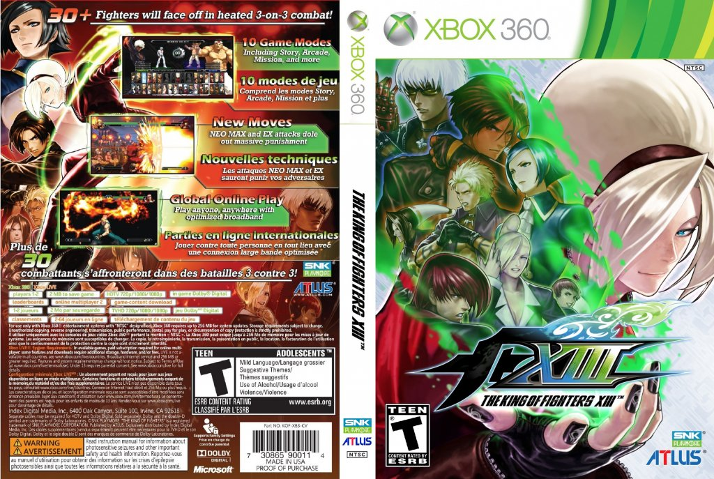 The King Of Fighters Xiii Dvd Ntsc Custom F Xbox Covers Cover