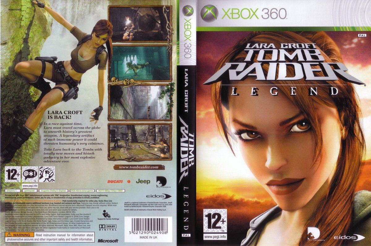 Tomb Raider Legend Pal Xbox360 Full Xbox Covers Cover Century